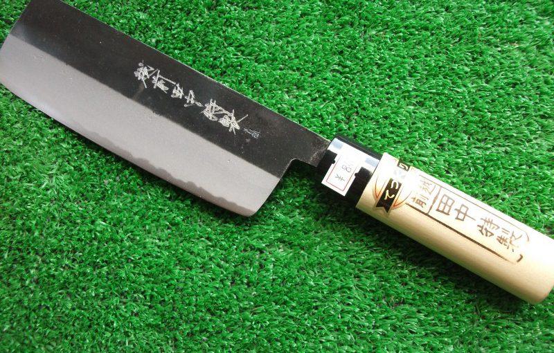 田中特製・菜切包丁(青鋼)195mm(本手打ち)