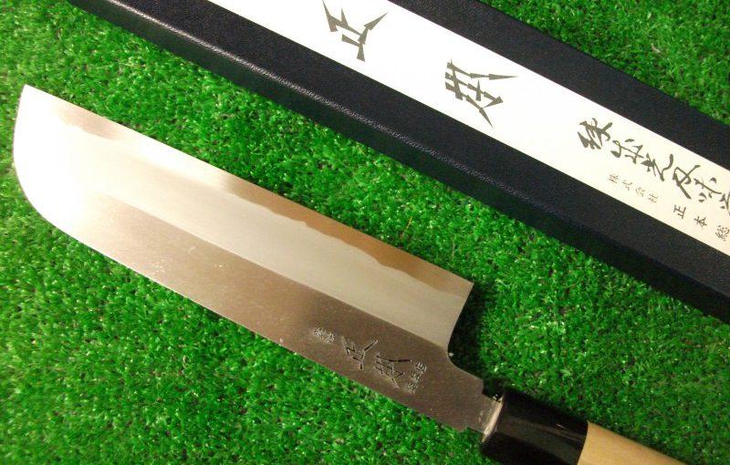 鎌形薄刃庖刀(青鋼霞)210mm(正本総本店)