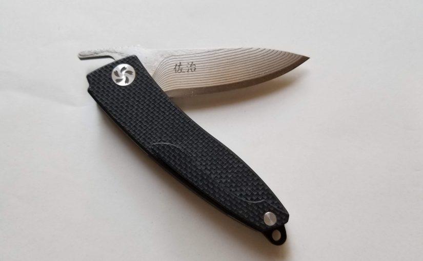 佐治武士「折りたたみナイフ」粉末ハイス鋼R2・ダマスカス鋼