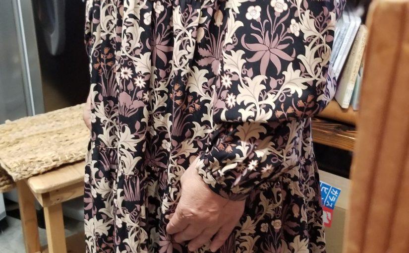 ピープルツリー「V&Aセランダイン柄ドレス」UK10
